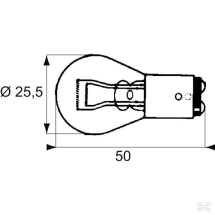 Stop/Tail Bulb 12V 21/5W (Staggered Pole)