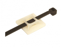Sticky Back Cable Clips 27mm (Takes up to 5mm Cable Tie)