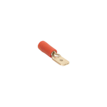 Red Connector Male Blade 6.3mm (8.75A, Pack 50)