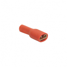 Red Connector Female 6.6mm (8.75A, Pack 50)