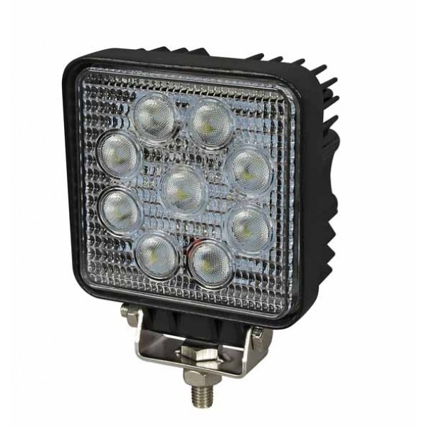 LED WORKLAMP SQUARE (2150 LUMENS 9 X 3W)