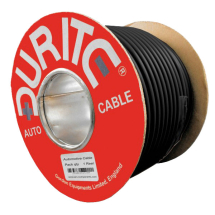Black Twin Core Cable 17.5A (30M Roll)