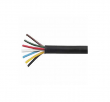 Black PVC 7 Core Cable