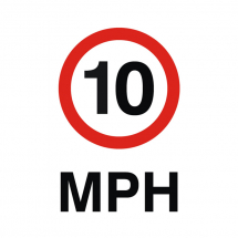 Sign - 10MPH (240mm x 360mm)