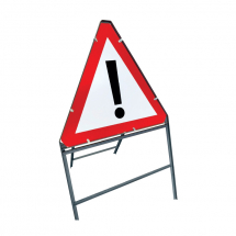 Folding Metal Sign 750mm (skidding car/mud on road)