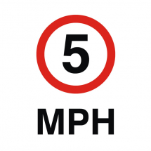 Sign - 5MPH (240mm x 360mm)