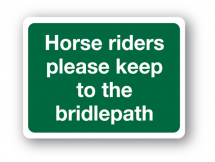 Sign - Horse Riders (400mm x 300mm)