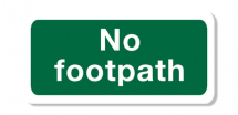 Sign - No Footpath (400mm x 200mm)