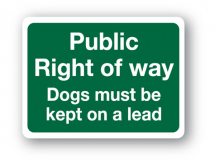 Sign - Public Right of Way (480mm x 360mm)