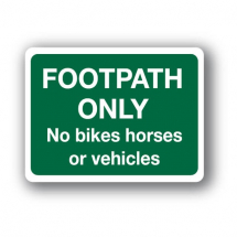 Sign - Footpath Only (400mm x 300mm)