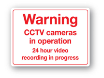 Sign - Warning CCTV Cameras (480mm x 360mm)