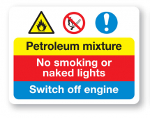 Sign - Petroleum Mixture (480mm x 360mm)