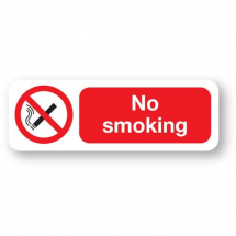 Sign - No Smoking (120mm x 360mm)