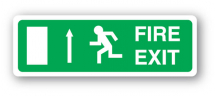 Sign - Fire Exit & Up Arrow (400mm x 140mm)