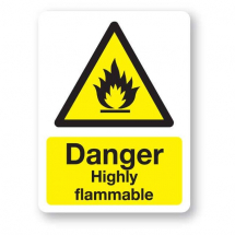 Sign - Danger Highly Flammable (400mm x 300mm)