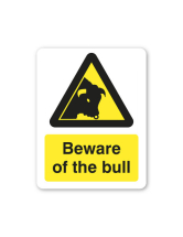 Sign - Beware of the Bull 480 x 360
