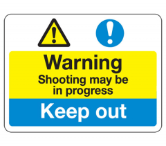 Sign - Shooting In Progress (480mm x 360mm)