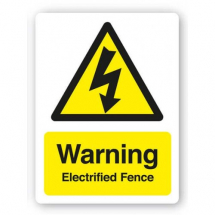 Sign-Warning Electrified Fence (480mm x 360mm)
