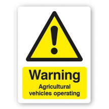 Sign - Agricultural Vehicles (480mm x 360mm)