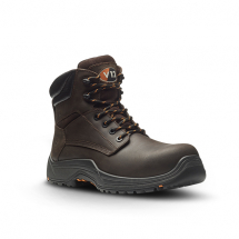 VR601 Brown Safety Boot (12) Lightweight metal free safety