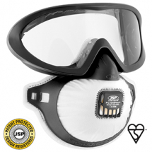 Goggle&Respirator set valved (comes with 3 filters)FMP2