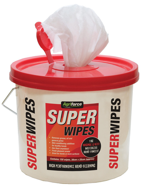 AGRIFORCE SUPERWIPES ANTIBACTERIAL