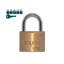 Squire KA Brass Padlocks 50mm (Pack-6)