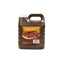 Dark Brown Creocote 4Ltr Oil Based Creosote Substitute
