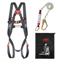 Fall Arrest Harness Kit (1.8M Shock Absorbing Lanyard)