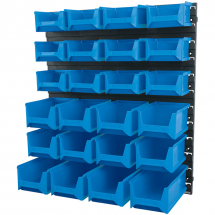 24 Bin Wall Storage Unit (Small, Medium & Large Bins)