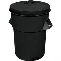 Black Plastic Dustbin 94L