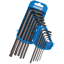 10pc Hex Key Set (2mm-10mm, Ball End)